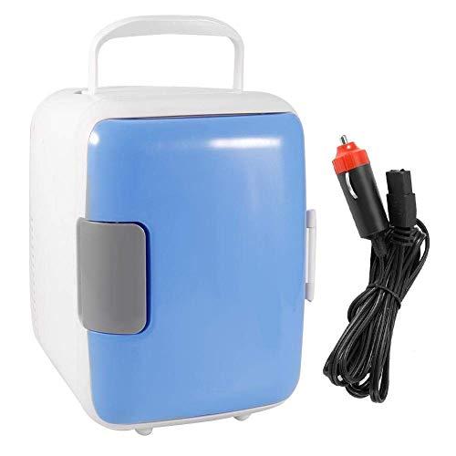 HYCy Autokuuml;hlschrank 4L 12V Mini Autokuuml;hlschrank Tragbarer Multifunktions-Autokuuml;hlschrank Wauml;rmer Gefrierschrank Kleiner Haushaltskuuml;hlschrank Blau