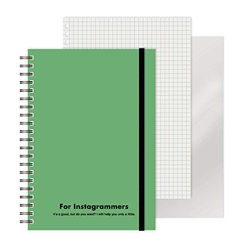 エムプラン リングノート レフ板付き カラード カラード グリーン 220417-10