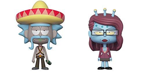 Funko 32267 VYNL 4 en Paquete de 2: Rick & Morty: Rick w/Sombrero & Unity Morty, Multi