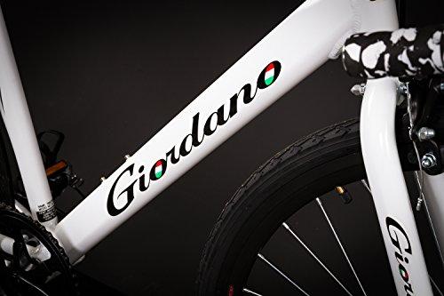 28″ Zoll Alu Rennrad Single Speed GIORDANO Race Bike Fixi Fahrrad Rh 56cm weiss - 3