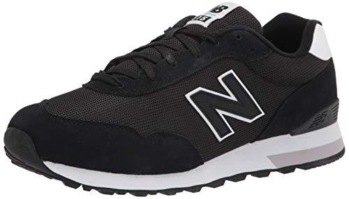 New Balance Women's 515 V3 Sneaker, Black/Munsell White, 9.5