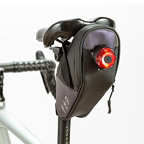 Sethexy Impermeable Bolsa de sillín de bicicleta Bolsa portabicicletas trasera reflexivo Bolsa de bicicleta Bolsa de almacenamiento de ciclismo Bolsa de asiento de bicicleta (Vistoso)