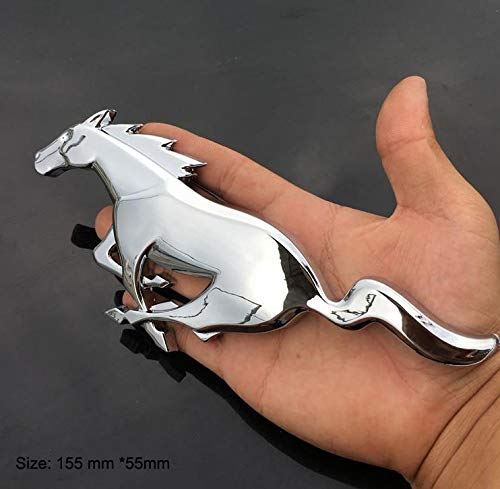 B267 Pferd Chrom Emblem Badge auto aufkleber 3D mobil Abzeichen car Sticker Plakette