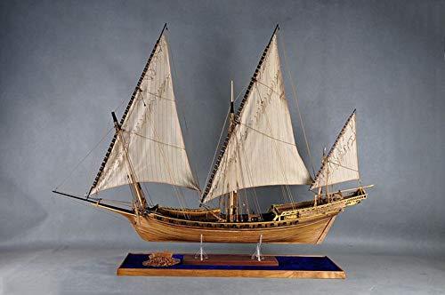 "LE Requin 1750 Full Rib Boxwood carvings Version and Liftboat 1/48 47.6"" Model Kit Ship Boxwood Carvings"