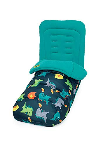Cosatto Universal Footmuff – Cosy Toes, All Season Quilted Pushchair Liner, Washable (Dragon Kingdom)