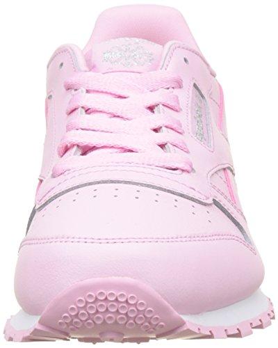 Reebok Classic Leather Pastel, Zapatillas de Running Mujer, Rosa Charming Pink White, 38 EU
