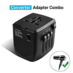 Toothbrush 220V//240V to 110V//120V Step Down 230W Voltage Converter and International Travel Adapter Combo for Hair Straightener Flat Iron CPAP Hair Curler Use USA Electronics Overseas Xbox -