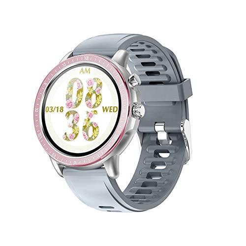 Ake S02 Smart Watch Mujeres Monitoreo de Ritmo cardíaco Hombre IP67 Fitness FitnessTracker de 1.3 Pulgadas Banda de Pantalla Completa Completa,D