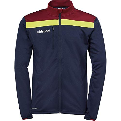 uhlsport Offense 23 Poly Jacket Giacca in Poliestere da Uomo, Uomo, 100519813, Blu Oltremare/Bordeaux/Giallo, 2XL
