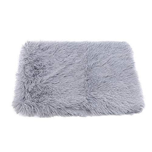 GLJYG Manta para perros, lavable, suave, cómoda, mullida, cálida, saco de dormir para mascotas, cachorro, sofá para dormir para perros pequeños y medianos y gatos, gris claro, S.