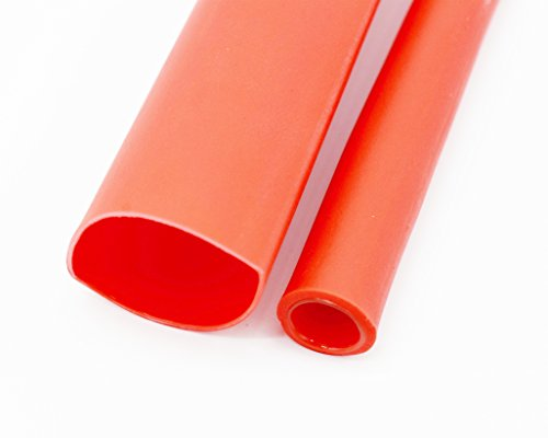 3/4 Inch Ratio 3:1 Waterproof Double Wall Heat-Shrinkable Tube with Adhesive,Thickening Heat Shrinkable Casing,Marine Heat Shrink Tube,Red