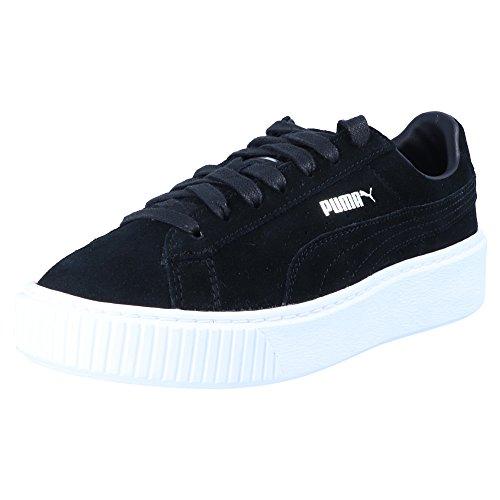 Suede Platform - 362223 001 Puma Black-Black-Puma White - (37, 001 black-black-white)
