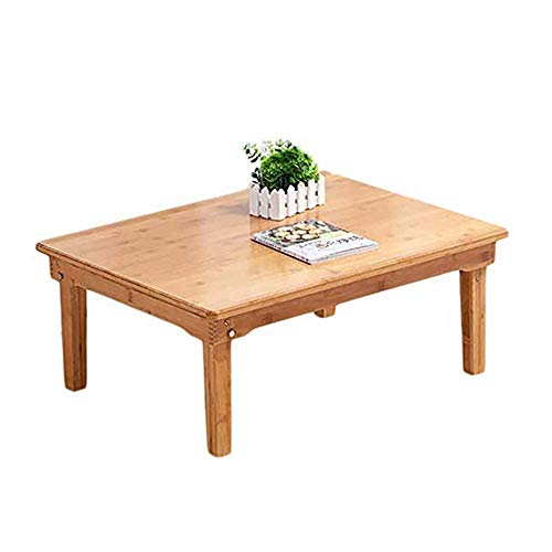 N/Z Daily Equipment Simple and Portable Solid Wood Foldable Coffee Table Japanese Style Rectangular Low Table Suitable for Living Room and Bedroom Dining Table