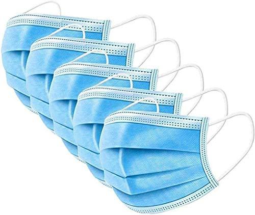 Mundschutz Maske | 3-lagig einweg masken mund und nasenschutz | Einwegmasken nasenschutz | maske nasen schutzmaske gesichtsmasken 50