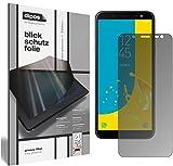 dipos I Blickschutzfolie matt kompatibel mit Samsung Galaxy J6 (2018) Sichtschutz-Folie Bildschirm-Schutzfolie Privacy-Filter