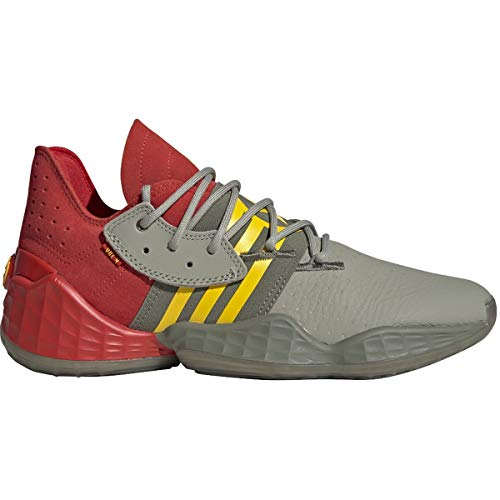 adidas Harden Vol. 4 Shoe - Men's Basketball Red/Feather Grey/Legacy Green