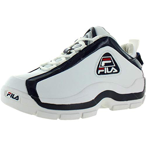 Fila Mens 96 Low Sneaker,White/Navy/RED,9