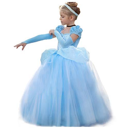 Disfraz de princesa de Cenicienta para Halloween o carnaval