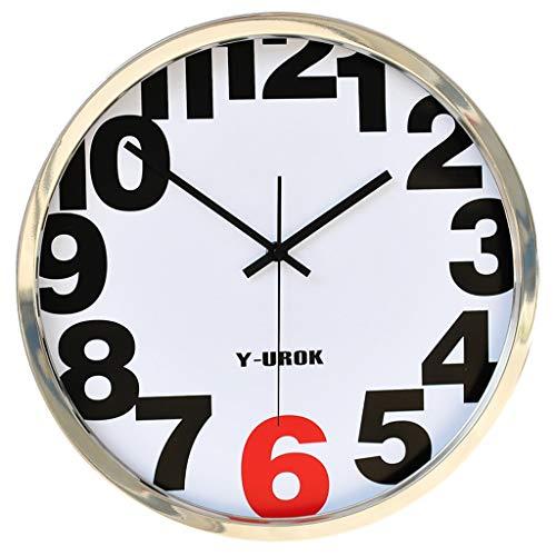 Kensington Station métal gris Horloge murale ronde avec des nombres et avant en verre