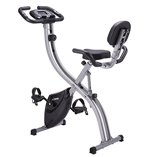 Xspec Upgraded Dual Recumbent/Upright Foldable Stationary Exercise Bike Convertible 8-Level...