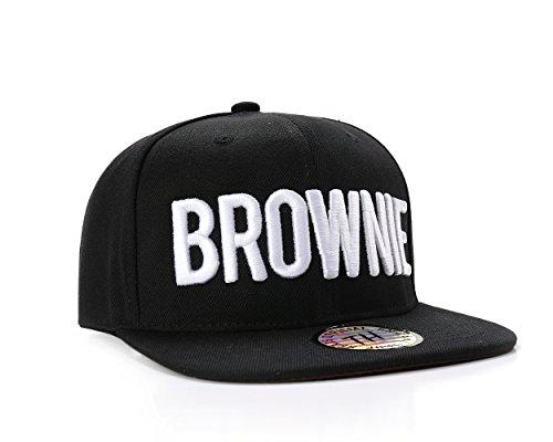 True Heads Brownie Haarfarbe Schwarz Snapback Baseball Cap