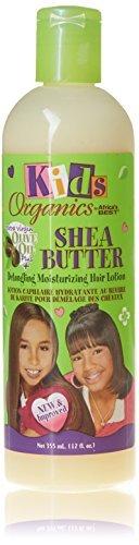 Africa 's Best Kids Organics Hair Lotion, Shea Butter Detangling Moisturizing 12 oz by Africa' s Best