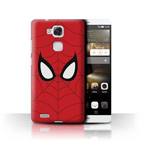 Hülle Für Huawei Ascend Mate7 Superheld Comic-Kunst Spider-Man Maske Inspiriert Design Transparent Ultra Dünn Klar Hart Schutz Handyhülle Case