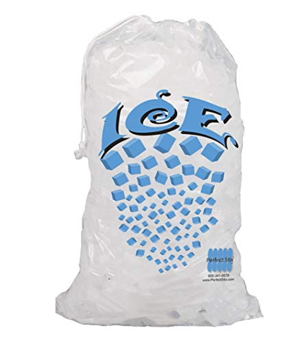 commercial Perfectware 10lb drawstring ice bag – 100ct clear ice bags