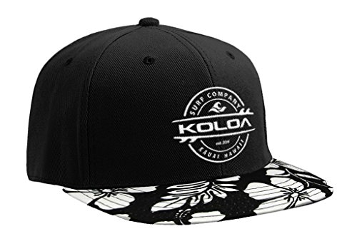 Koloa Surf(tm) Thruster Logo Solid Snap-Back Hat Hawaiian White Flowers/w