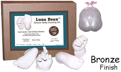 Sacow/_❤️ 3D Plaster Handprint Footprint Baby Mould Hand/&Foot Casting Prints Kit Cast Gift B