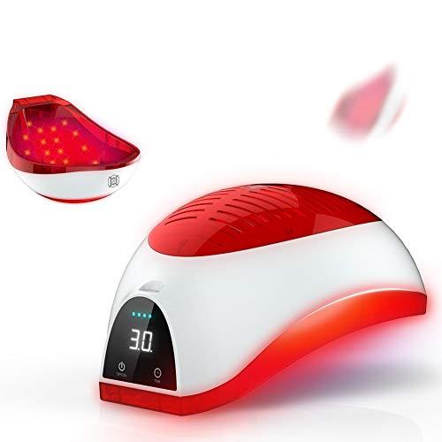 Hair Growth Casco Dispositivo De Tratamiento Laser Pérdida De Pelo Promueve El Crecimiento Láser Cap- 98% De Tasa Germinal 100-240 V (Rojo)