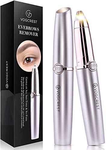 Augenbrauen-Haarentferner, Schmerzloser Augenbrauen-Trimmer für Frauen, Tragbarer Augenbrauen-Haarentfernung, Augenbrauen-Rasierer mit Licht