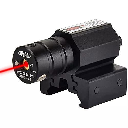 HAOXUAN Mira de Punto Rojo, Adecuada para Escopeta de Rifle de Pistola Glock, con riel Deslizante Picatinny o Weaver de 20 mm; Potencia: Menos de 5 MW; Longitud de Onda: 520 NM; Clase IIIA