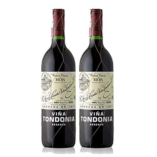Vino tinto Viña Tondonia Reserva de 75 cl - D.O. La Rioja - Bodegas R.Lopez de Heredia (Pack de 2 botellas)