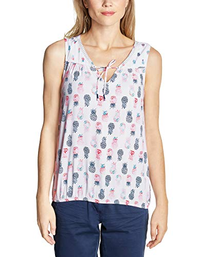 CECIL Damen 341453 Bluse per pack Mehrfarbig (White 30000), XX-Large (Herstellergröße:XXL)