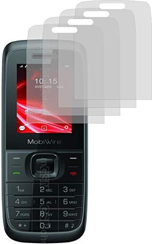 4ProTec I 4X Schutzfolie KLAR passexakt für MobiWire Elki - Displayschutzfolie Schutzhülle