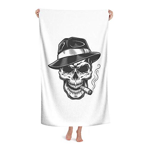 Images (1) Soft Beach Towel Portable Quick-Drying Bath Towel (Buckle And Bag) Outdoor Camping Hiking Pool Swimming Towel 2 Size Options