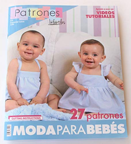 Revista patrones de costura infantil, nº 2. Especial bebé, 27 modelos de patrones, Cutting instructions.