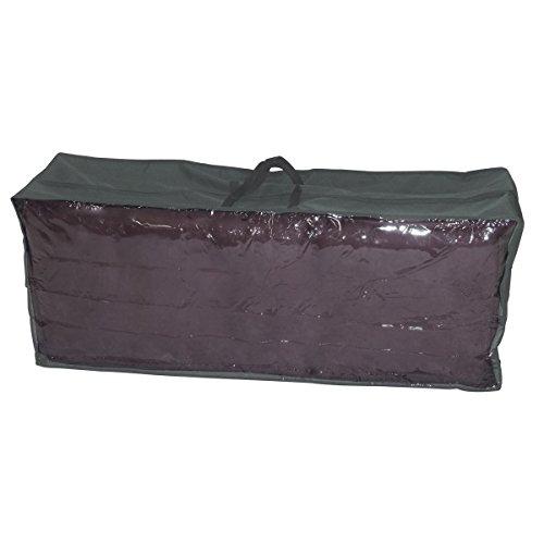 greemotion beschermhoes voor tuinkussens - draagtas tuinkussen grijs - opbergtas voor tuinkussens van polyester - hoes loungekussen 125x50x32 cm