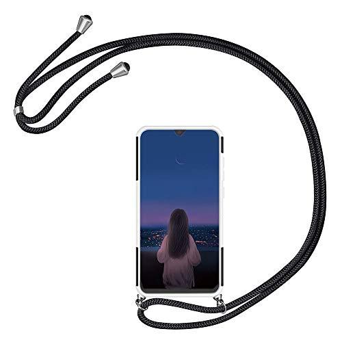 Kesv kompatibel mit Huawei Honor 6C Handyhülle mit Umhängeband, Handykordel mit Schutzhülle, Weiche TPU & Harter PC in einem, Stylische Kette mit Hülle Smartphone