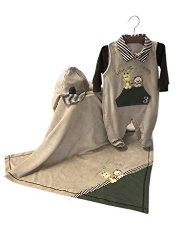 Saída Maternidade Menino Safari 03 Peças Verde - Balila Baby