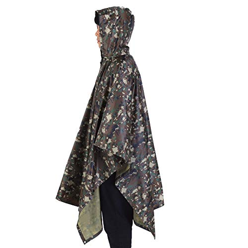 AYNEFY Capa impermeable impermeable para lluvia, poncho al aire libre, para camping, ciclismo, viajes, impermeable para actividades al aire libre