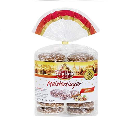 """Wicklein Feine Nürnberger \""""Meistersinger\"""" Oblaten-Lebkuchen, glasiert, 500 g"""