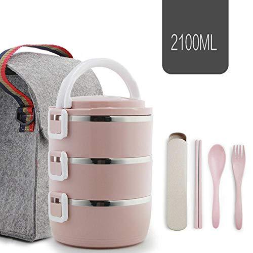 KIU Grote RVS voedsel container opslag thermosfles kinderen lunch doos lekvrij bestek set