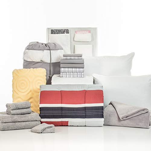 Product Image of the OCM College Dorm Room Essentials 20-Piece Comfort Pak | Twin XL | with Topper,...