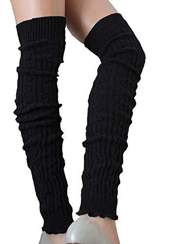 SC-Strümpfe Damen Wollstulpen extra lang Schwarz one Size