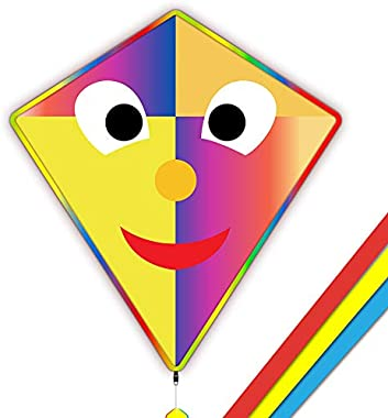 Mint's Colorful Life Joker Kite for Kids & Adults, Easy to Fly 33x30'' Diamond Kite