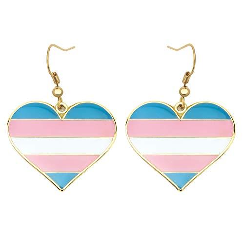 Pendientes colgantes del orgullo transgénero Gay & Lesbianas Orgullo LGBT Regalos Rainbow Jewelry