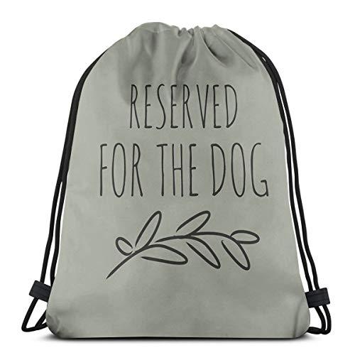 Dutars Reserved for The Dog Kordelzug Tasche Schultertasche Druck Rucksack Reise Gym Bag Rucksack mit Kordelzug Rucksack Leicht für Reisen Gym Yoga Aufbewahrung Geschenk
