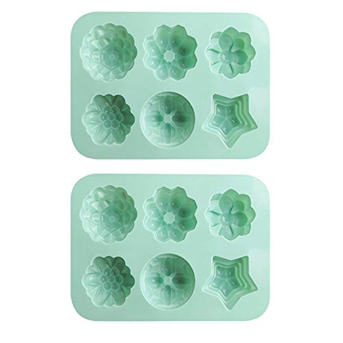 6 Holes Cake Mold Non-Stick Silicone 3D Cake Making Moulds DIY Dessert Mousse Molds Mousse Pudding Mould
